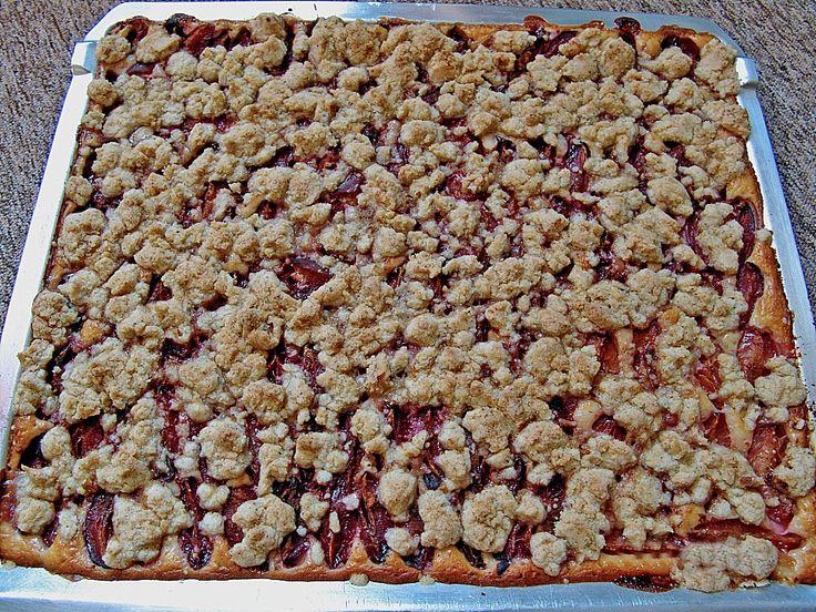 Pflaumenkuchen mit Pudding und Streusel, ein leckeres Rezept aus der Kategorie Kuchen. Bewertungen: 32. Durchschnitt: Ø 4,0.