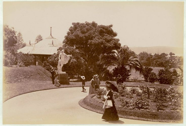 Botanical Gardens, Sydney [showing statue of Apollo Belvedere], 1900-1910. PXE 711 / 472. http://acmssearch.sl.nsw.gov.au/search/itemDetailPaged.cgi?itemID=413792