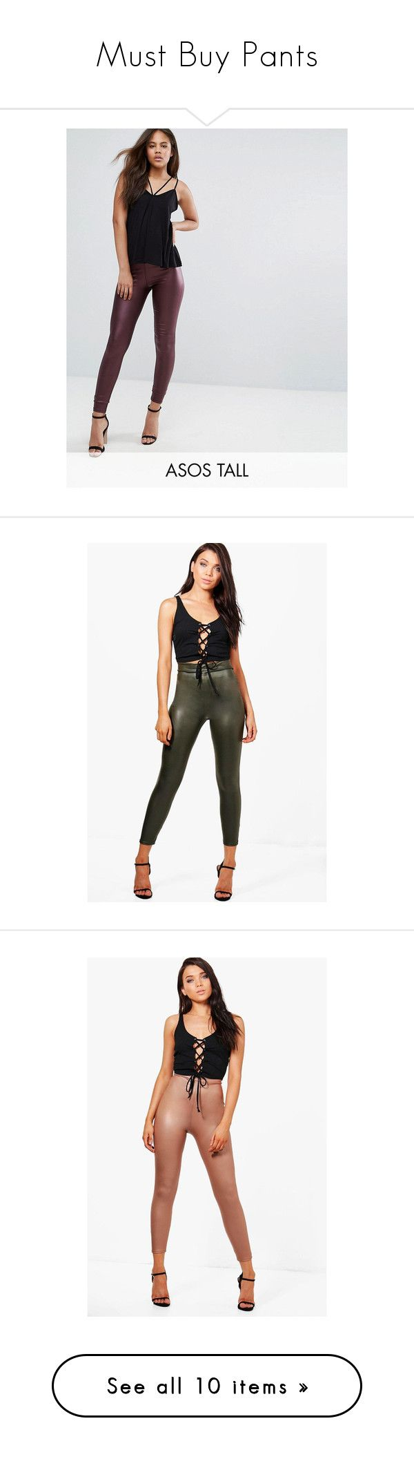 """""""Must Buy Pants"""" by madamshante17 ❤ liked on Polyvore featuring pants, leggings, red, mesh-panel leggings, high waisted faux leather leggings, high-waisted leggings, wide-waistband leggings, slimming leggings, petite leggings and petite trousers"""