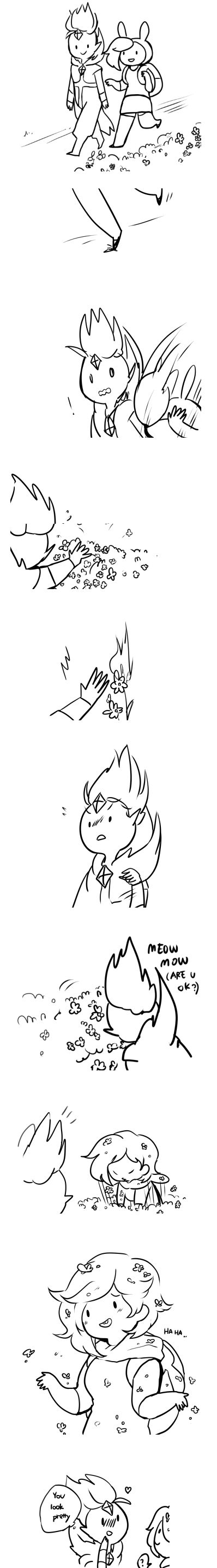 short fionna and flame prince comic by professor torchy