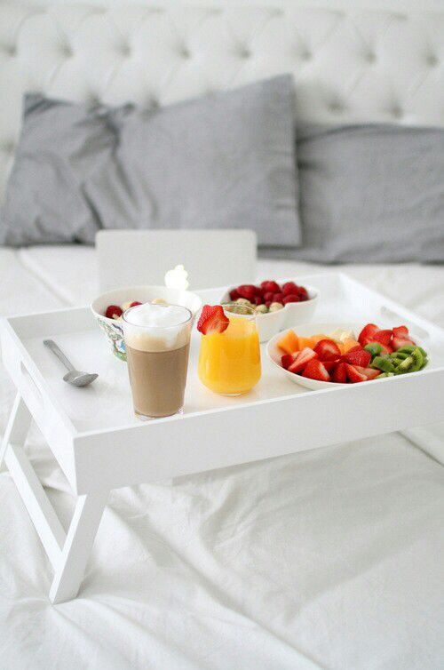 Breakfast in bed tray. I sooooo want some of these for us.