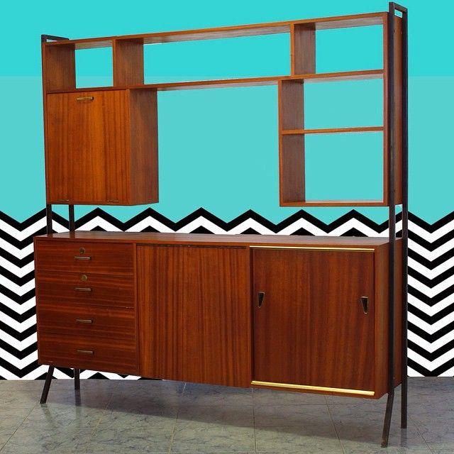 Estante Olaio Vintage Anos 60/70 em http://vendadegaragemvintage.blogspot.pt