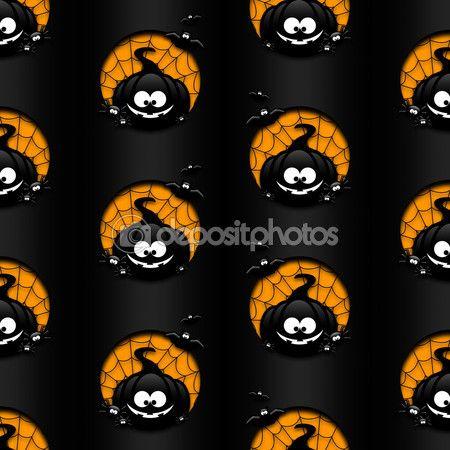 Halloween wzór z dyni, nietoperze i pająki nad — Zdjęcie stockowe © ayo888 #85162958