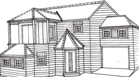 How to draw a house art learn to draw pinterest to for How to draw a house plan step by step