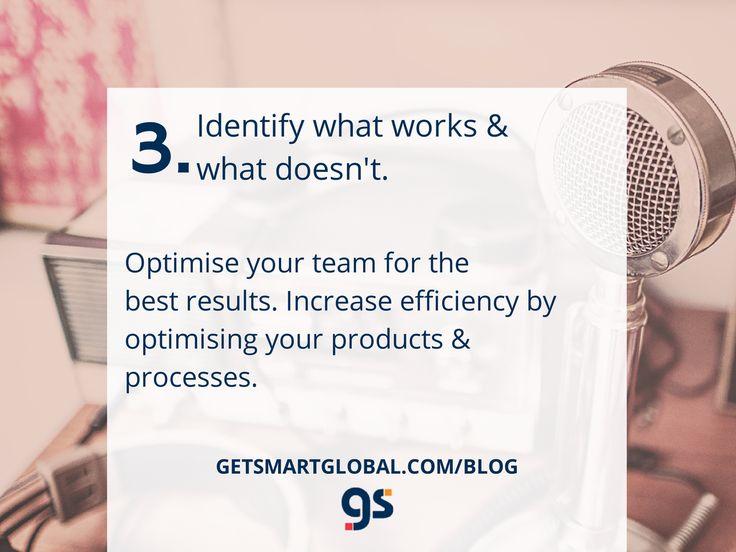 3. Identify what works & what doesn't. Full blog at www.getsmartglobal.com/blog