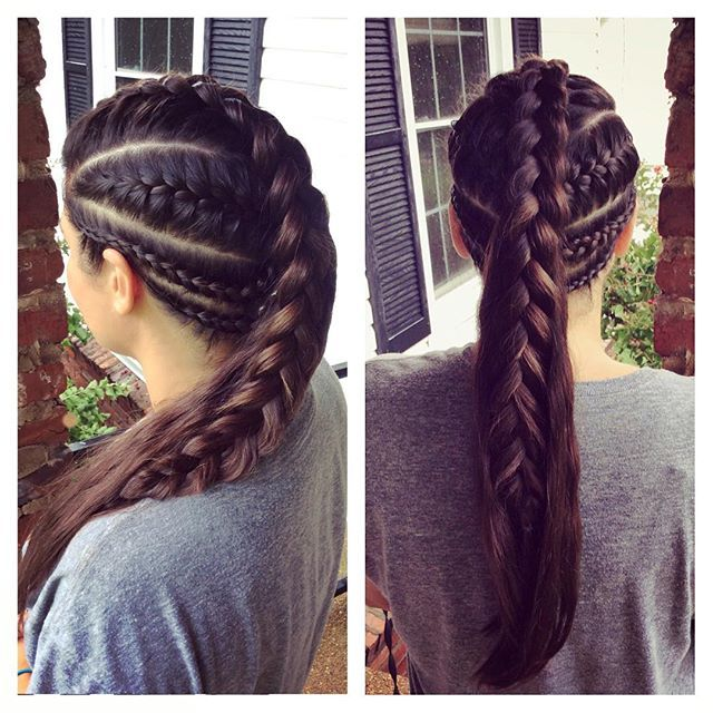 Image result for very long hair braids