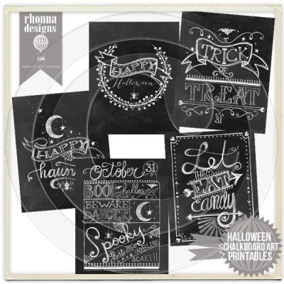 Halloween Chalkboard Art Bundle