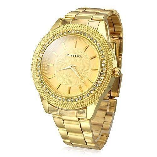 """cool De #Amazon: """"Relojes de oro para hombre de Tzou Dial de diamante de oro de acero reloj de cuarzo analógico """""""