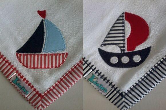 Kit Fralda de Boca com 02 unidades em tecido duplo (04 camadas para melhor absorção) 100% algodão com patch apliqué e bainha em tecido.  * As fraldinhas também podem ser personalizadas escolhendo o tema e a cor do tecido para montar o kit. R$ 32,90