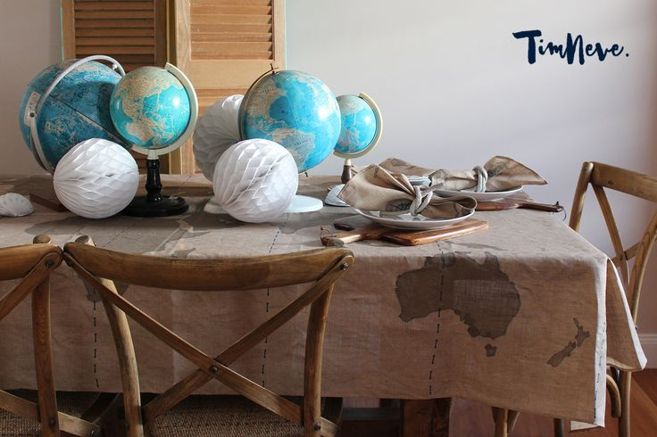 'Voyage' Tablecloth: Introducing stylist Tim Neve's debut linen tableware designs.