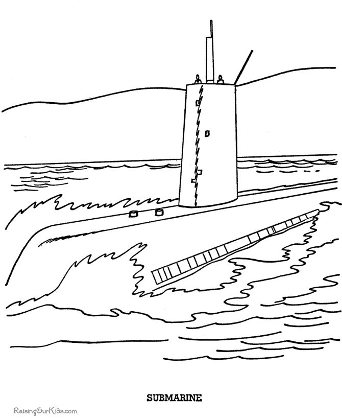 free navy coloring pages