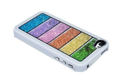 This is the coolest case. It has 6 rows of contained sparkling crystals, that roll around for all to adore!  Newsh Rainbow Swarovski Crystal Cell Phone Cover Case for Iphone 4 4s, http://www.amazon.com/dp/B008QNHB82/ref=cm_sw_r_pi_awdm_V.g6sb1VX6FMA