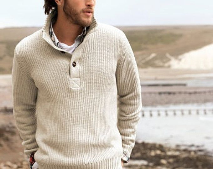 Cableados de Polo suéter escote en v cuello hombres hombres de suéter cardigan suéter tejido a mano de cuello redondo hombres hechos a mano de ropa que hace punto