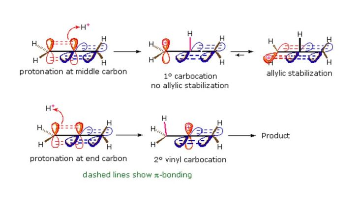 Can vinyl cation be more favorable than allyl | Reactions of allene with...