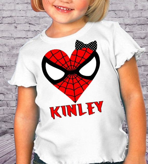 Heart Shaped Spiderman Personalized Girls by AimToPleaseCreations, $14.75
