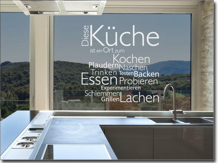 Fensterfolie motiv kuche for Klebefieber kuche