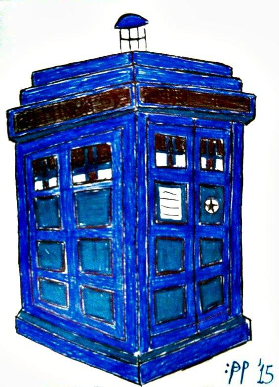 #Inktober #Inktober2015 TARDIS