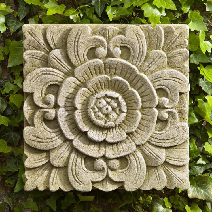 Campania International Square Eden Cast Stone Outdoor Wall Art Plaque