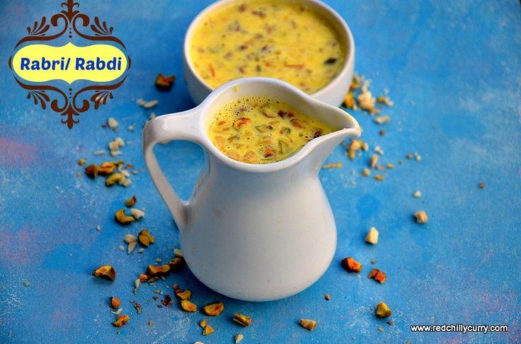 Rabri or Rabdi is an Indian sweet made using condensed milk. This rabri is made for Malpua, Rasmalai and many more. Rabri is rich Indian sweet. Rabri or rabdi.