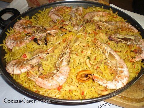 FIDEUÁ DE MARISCO. Receta de Cocina Casera RECETAS DE COCINA CASERA