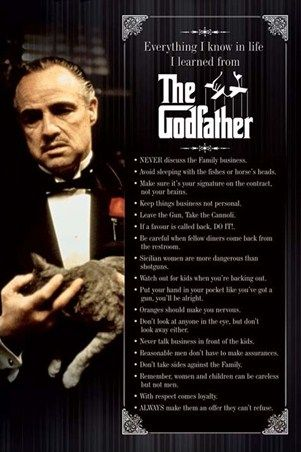 Sleeping with the Fishes - The GodfatherFilm, Movie Posters, Picture-Black Posters, The Godfather, Quote, Art Prints, Allposters Com, Allposterscom, 500 000 Posters