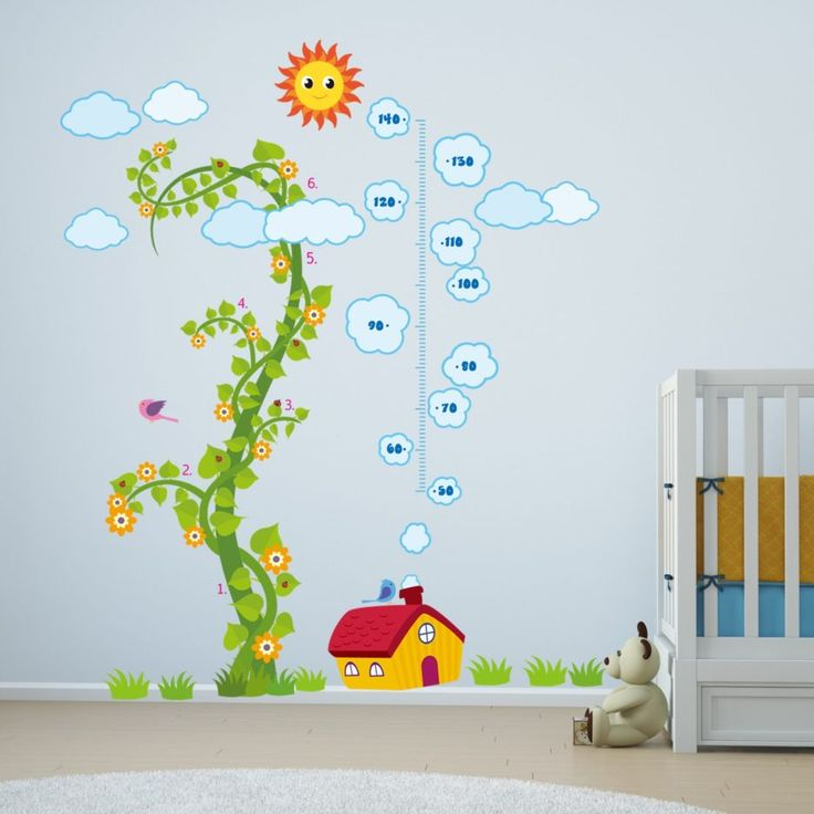 Captivating Unusual Design Baby Nursery Wall Stickers, Green Jack Tree Wall Sticker,  Blue Wall Paint Good Ideas