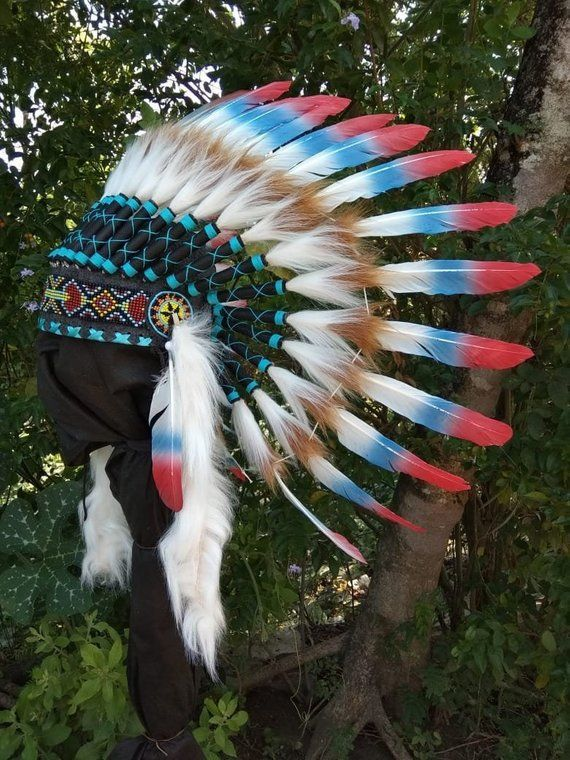 Baby Native American Indian Feather Headdress Hat Party Decoration Photo Props