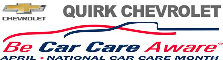 April is National Car Care Month and we here at Quirk Chevrolet are recognizing this by offering you many great savings specials and coupons in our service department! Some of the top offers that we have going on right now include: -Quirk Chevrolet Spring Special: $149.95 *Coolant Flush *Oil Change – Up to 5 Quarts... read more