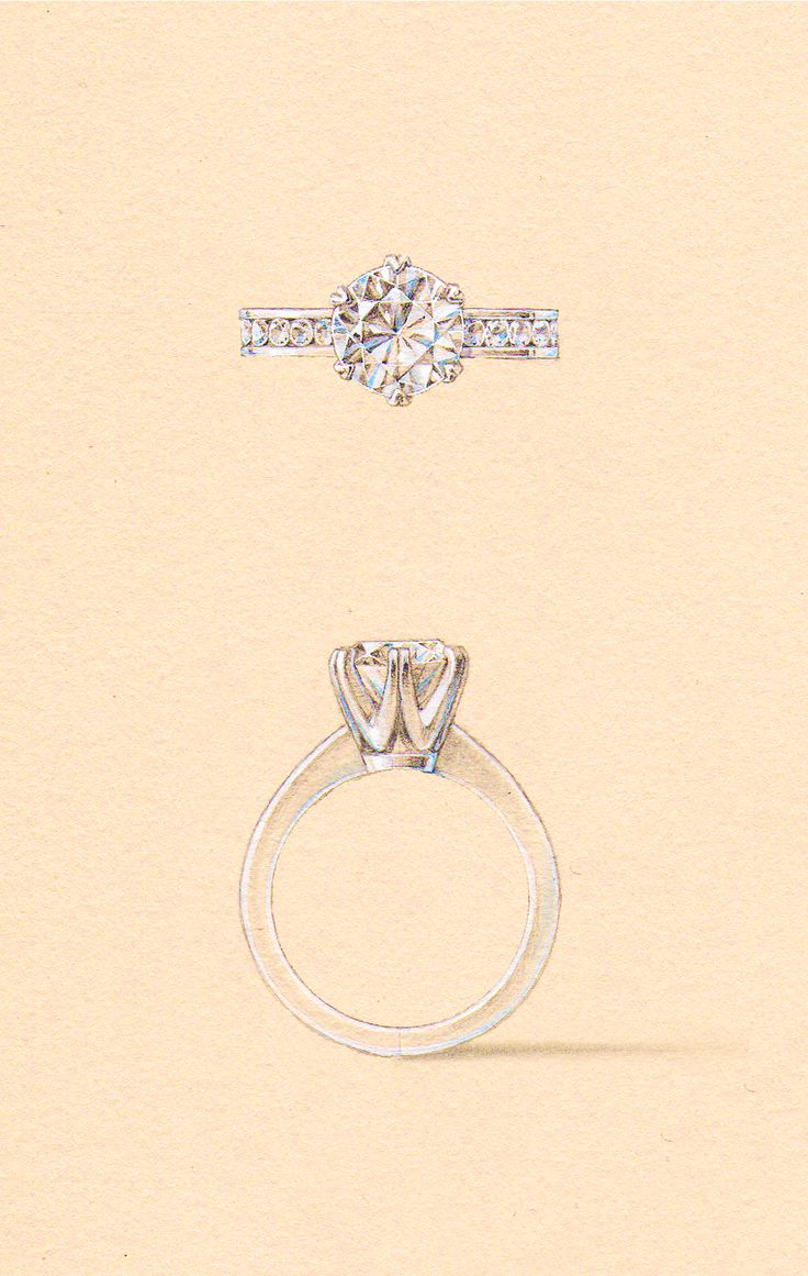 The Sloane Setting, with a channel set diamond band. Naveya & Sloane engagement ring, made to order in Auckland, New Zealand.