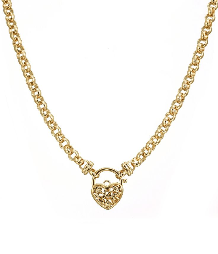 Glamour Gold Filagree Heart Necklace - NG0041 - $449 AUD