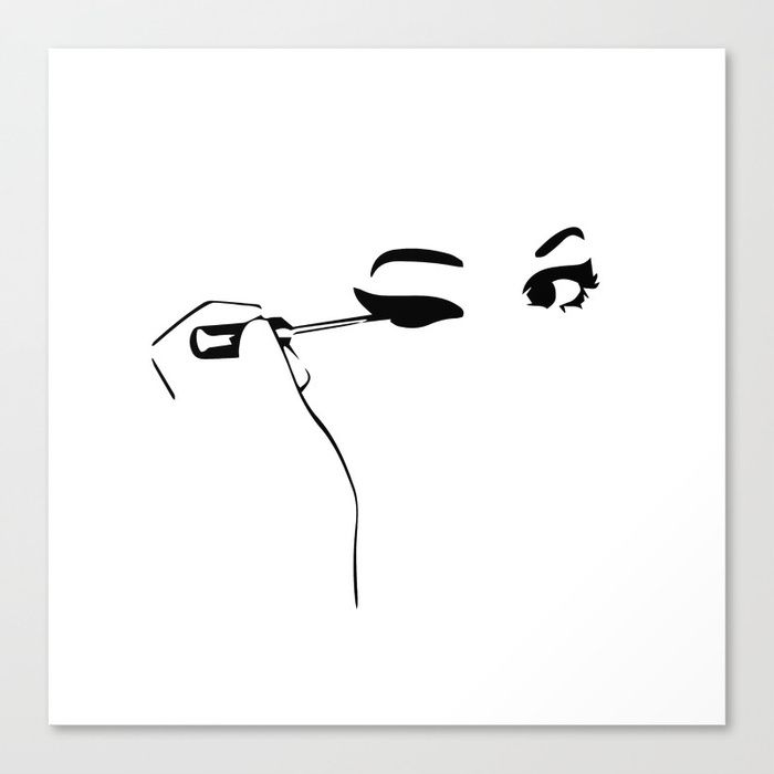 Buy Make up Canvas Print by gaiadesign. Worldwide shipping available at Society6.com. Just one of millions of high quality products available.