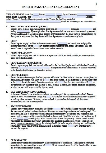 north-dakota-residential-lease