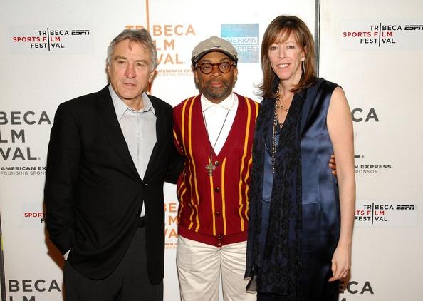"Tribeca Film Festival co-founder Robert DeNiro, director Spike Lee and Tribeca Film Festival co-founder Jane Rosenthal attend a screening of ""Kobe Doin' Work"""