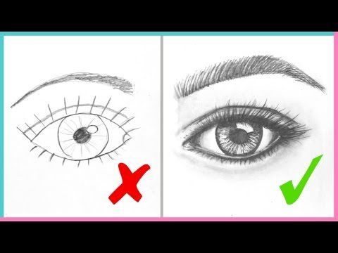 DOs & DON'Ts: How to Draw Realistic Eyes Easy Step by Step | Art Drawing Tutorial - YouTube