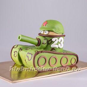 """Торт на 23 февраля """"Танчик"""" 1200руб/кг"""