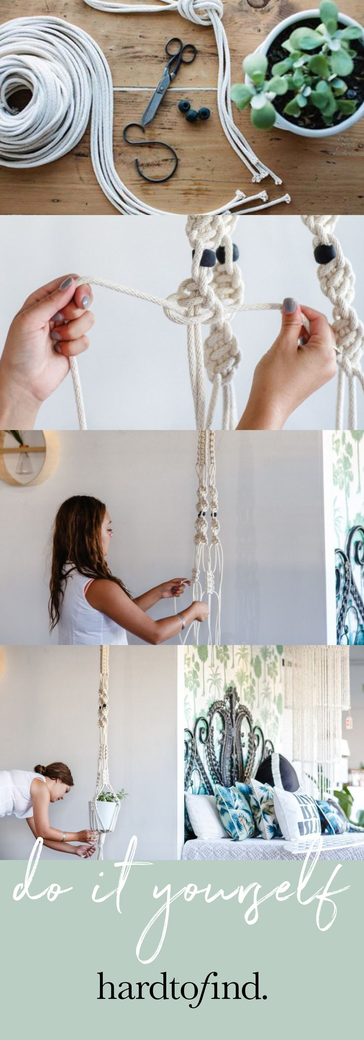 Get crafty with a DIY macrame plant hanger. This kit includes a step-by-step instruction booklet, 40 meters of Australian cotton rope, a handmade melted metal hook and clay beads to make your macrame plant hanger.