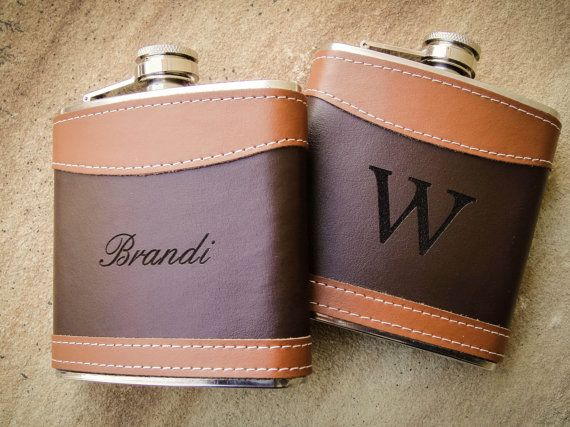 This custom engraved hip flask is the perfect gift for your bridal party, Fathers Day, stocking stuffers, anniversary, or just because its fun to