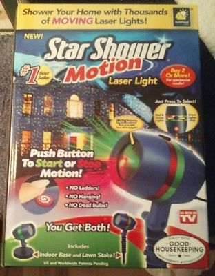 Christmas-Star-Shower-Laser-Light-Show-Motion-NEW-Indoor-Outdoor-Red-Green-Home