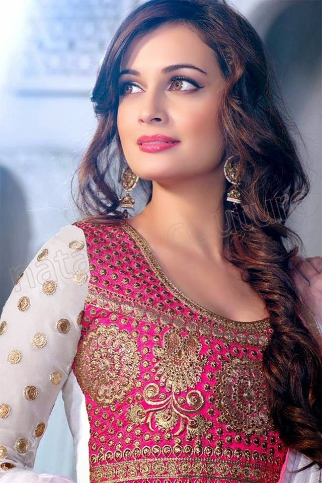 Dia Mirza wearing a side braid. She is GORGEOUS!!!