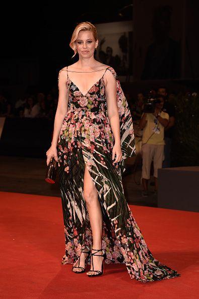 "Elizabeth Banks in Elie Saab Resort 2016 at the Venice Film Festival Premiere of ""Beasts Of No Nation"""