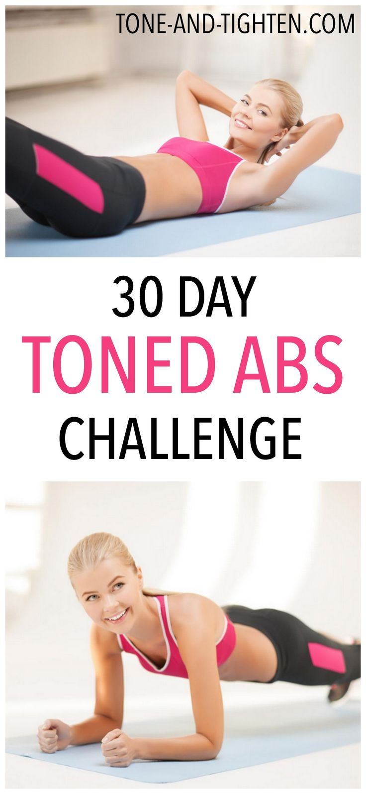 30 Day Toned Abs Challenge on Tone-and-Tighten.com