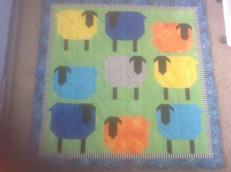 Sheep quilt for Isaac