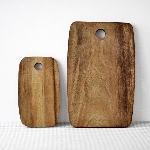 Beautiful wooden bread boards.