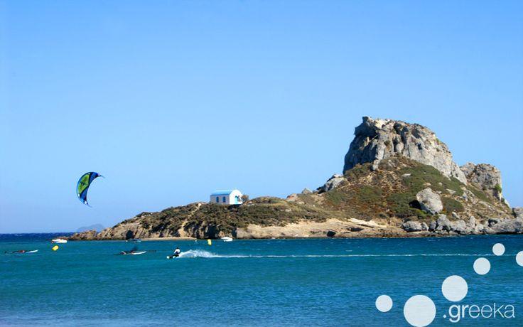 Kitesurfing in Kefalos, Kos island