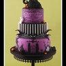 Nightmare Before Christmas Wedding Cake - by littlecherry @ CakesDecor.com - cake decorating website