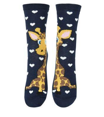 - 1 pair of socks included- All over giraffe polka dot print- Soft finish