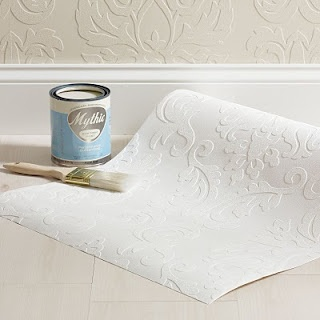 Damask Paintable Wallpaper; Martha Stewart, Home Depot