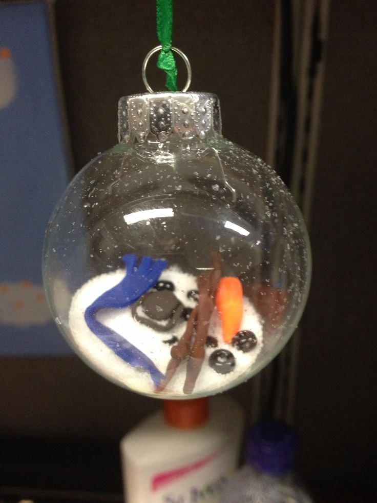 Homemade Christmas Ornaments Melted Snowman : Melted snowman clay ornament christmas ornaments