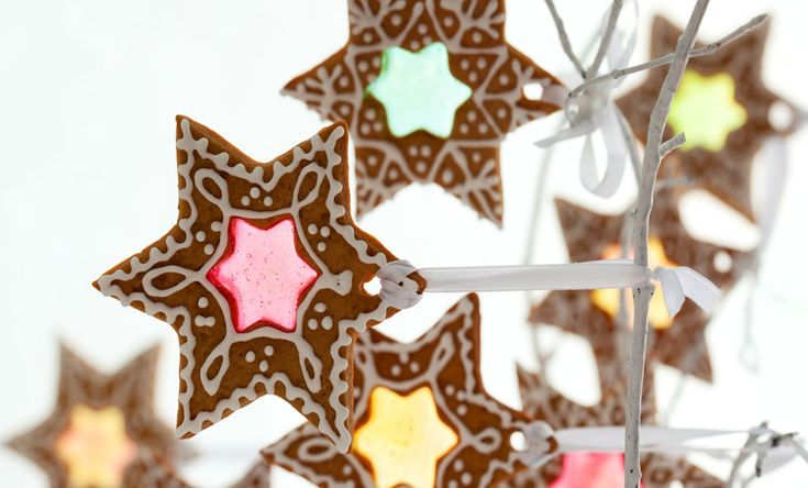 Christmas Star Stained Glass Biscuits