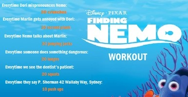 Finding Nemo Movie Workout